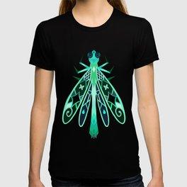 Geometric Ebony Jewelwing Damselfly Bug T-shirt