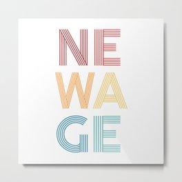 Newage  TShirt Music Shirt Instrument Gift Idea Metal Print