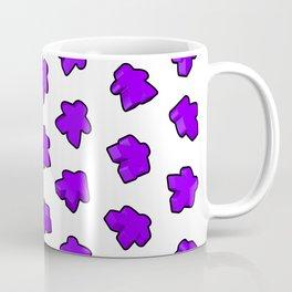 Purple Meeple Mania Texture Coffee Mug