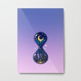 Moon Hourglass Metal Print
