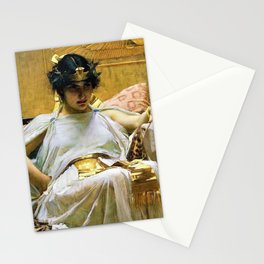 John William Waterhouse - Cleopatra - Digital Remastered Edition Stationery Cards
