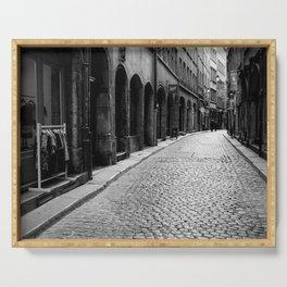 Stone pavement street: Vieux Lyon Serving Tray