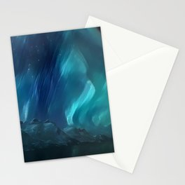 Ephemeral Northern Lights Stationery Cards