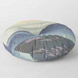 Eboshi Mountain Hiroshi Yoshida Modern Japanese Woodblock Print Floor Pillow