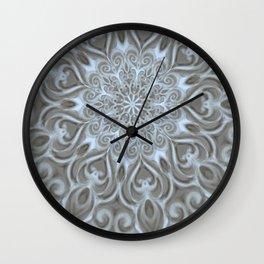 Light Blue Center Swirl Mandala Wall Clock