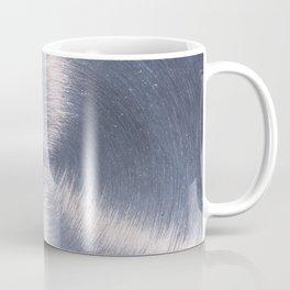 Silver Metallic Stainless Steel Pattern Coffee Mug