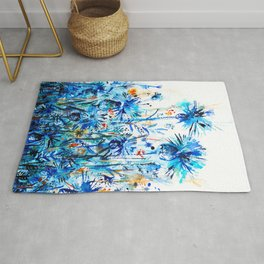 thickets of cornflowers Rug