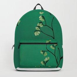 Green Plant Minimalist Botanical Art Backpack