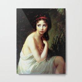 Louise Élisabeth Vigée Le Brun - Julie Le Brun as a Bather Metal Print