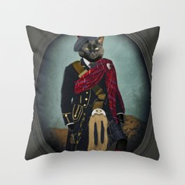 Boris the Bruce, Mouser-in-Chief Throw Pillow