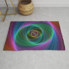Psychedelic Spiral Stripes Rug