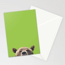 Bear - Green Stationery Cards