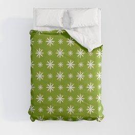 geometric flower 100 green Comforters
