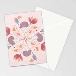 Pink Koi Kaleidoscope Stationery Cards
