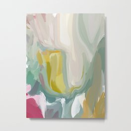 ORL-5764 Drifting abstract colour sands  Metal Print