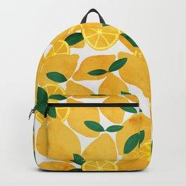lemon mediterranean still life Backpack
