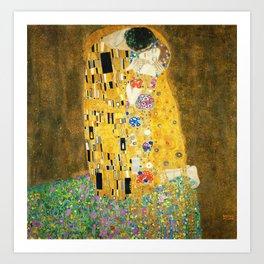 Gustav Klimt The Kiss Kunstdrucke