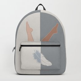 Falling Angel-Legs-Feather Backpack
