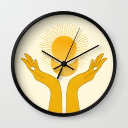 Holding the Light Wall Clock