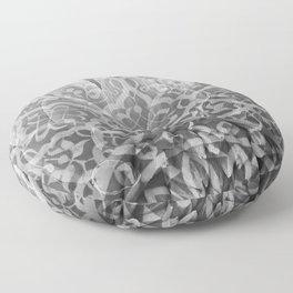 Foral Mosaic Pattern black & white Floor Pillow