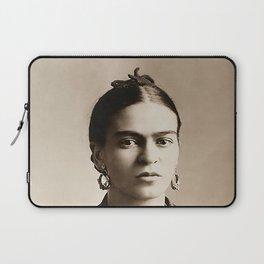 Frida Kahlo Portrait, Vintage Sepia Wall Art Laptop Sleeve