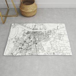 Baton Rouge White Map Rug