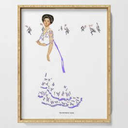 """Coles Phillips Magazine Illustration """"Butterfly Chase"""" Serving Tray"""