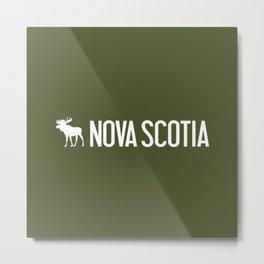 Nova Scotia Moose Metal Print