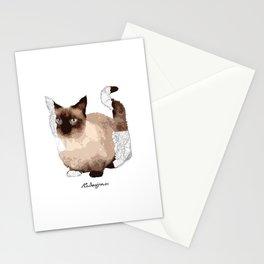 Geometric Animal - Munchkin Cat Stationery Cards