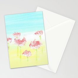 Flowers in the country Stationery Cards