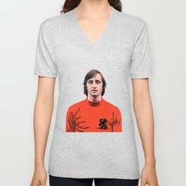 Cruyff - Holland player Unisex V-Neck
