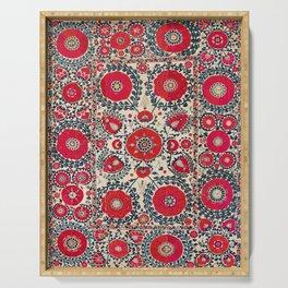 Shakhrisyabz Bokhara Uzbekistan Silk Embroidery Print Serving Tray