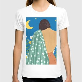 I Have Loved The Moon & The Stars Too Fondly To Be Fearful of The Night #illustration #painting T-shirt