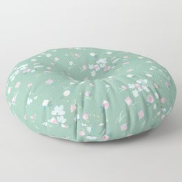 Polyhedral Dice- Mossy Spring Floor Pillow