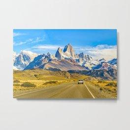 Snowy Andes Mountains, El Chalten, Argentina Metal Print
