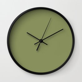 Dark Meadow Green Solid Color Pairs To Sherwin Williams Leapfrog SW 6431 Wall Clock