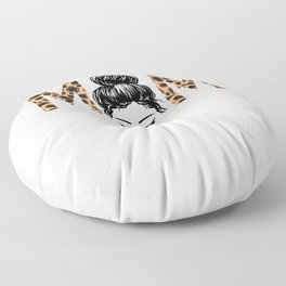 Mama Cheetah Leopard Floor Pillow