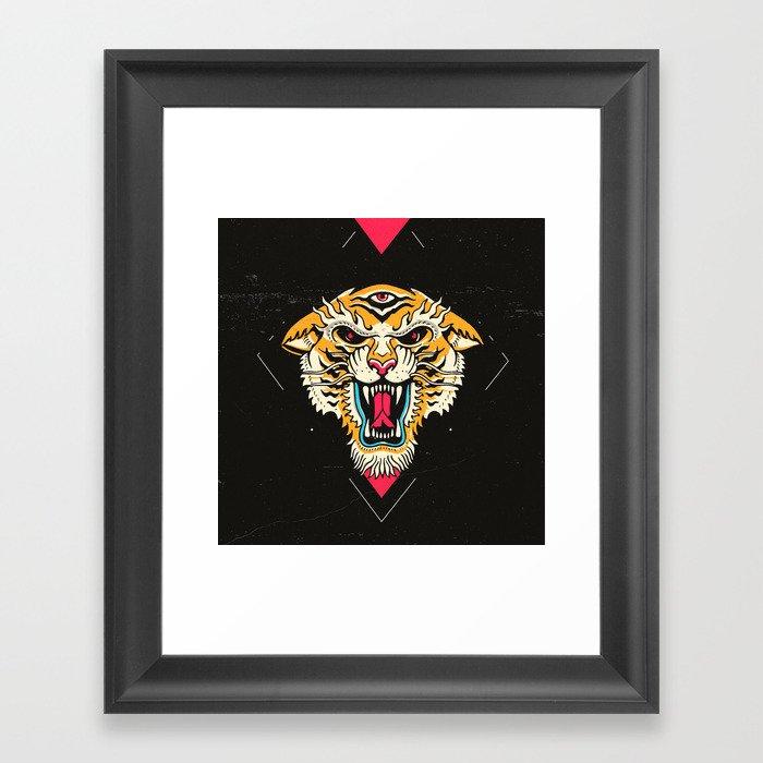 Tiger 3 Eyes Gerahmter Kunstdruck