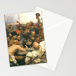 Ilya Repin Reply of the Zaporozhian Cossacks Stationery Cards