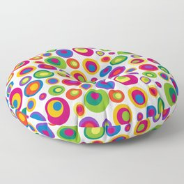 Eyes on the 60s - brights Floor Pillow