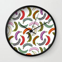 funky bananas Wall Clock