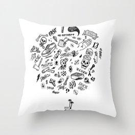 Rider Pattern Throw Pillow