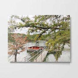 Texas Hill Country canoe Metal Print