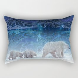 Arctic Journey of Polar Bears Rectangular Pillow