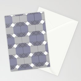 Blue Octagons Stationery Cards