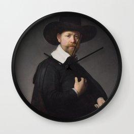 Portrait of Marten Looten Wall Clock