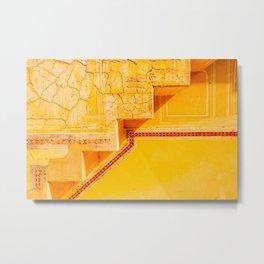 Yellow wall at Nahargarh Fort Metal Print