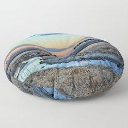Moonset Over Iowa Floor Pillow