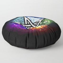 Glowing pentagram Floor Pillow