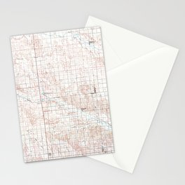 NE Ord 317761 1985 topographic map Stationery Cards
